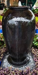 Outdoor, Garden, Water, Feature, Arthenian, Fountain, Urn, Charcoal, U0026, Rust