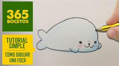 como dibujar una foca kawaii paso  paso dibujos kawaii faciles   draw  seal youtube
