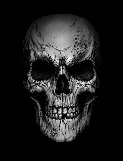 Skull Deviantart Skulls Andrewdobell Tattoo Cool Drawings