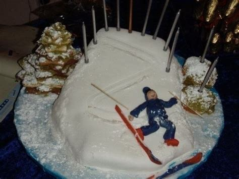ski cake  sports cake cooking baking  food