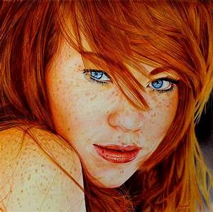 Cute Redhead - Ballpoint Pen by VianaArts on DeviantArt