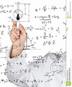 Physics Diagrams And Formulas Stock Photography