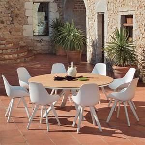 Table Exterieur Ronde : table exterieur ronde castoria zendart outdoor zendart design ~ Teatrodelosmanantiales.com Idées de Décoration
