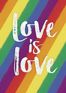 Love is Love, Gay Pride Large Queer Art, Orlando Pride ...