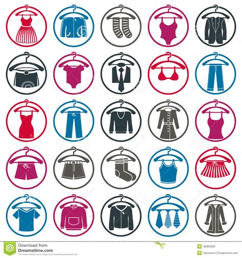 clothing symbols isolated vector clothing stock vector