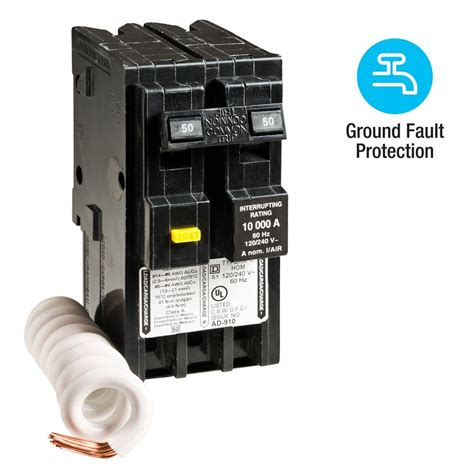 50 Gfci Breaker Wiring Diagram by Square D Homeline 50 2 Pole Gfci Circuit Breaker