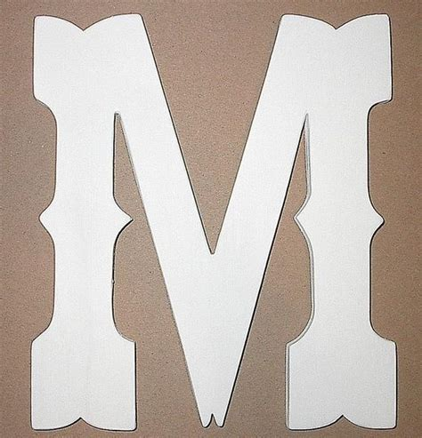 shabby chic rustic wooden letter   monogram western