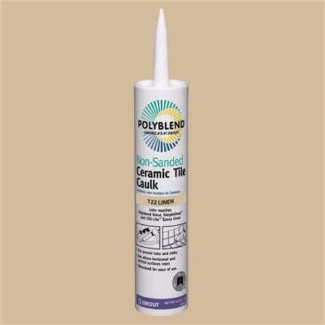 Polyblend Ceramic Tile Caulk by Custom Building Products Polyblend 122 Linen 10 5 Oz Non