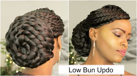 Flat Twist Updo Low Bun (bridal Hair) Melissa Erial