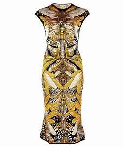 Alexander McQueen gold jacquard dress WAS £1250 NOW £650 ...