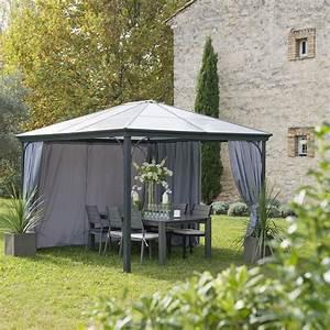 tonnelle autoportante aluminium gris anthracite 1095 m2 With toile pour terrasse exterieur 10 chaise de jardin en toile tous les fournisseurs de