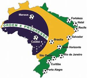 Host cities of FIFA World Cup 2014 - Brazil, Brasil