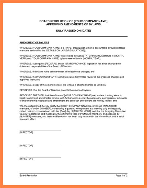 S Corp Bylaws Template by 9 Company Bylaws Template Company Letterhead