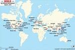 World International airport map   International airport ...