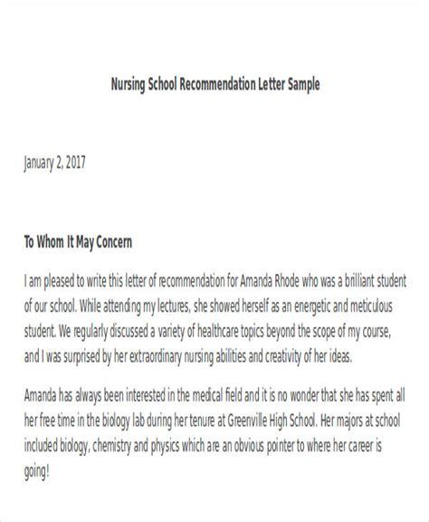 letter of recommendation for nursing school 45 free recommendation letter templates free premium