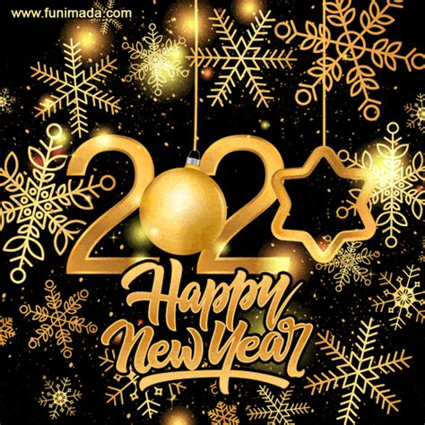 wishing   happy  year  gold glitter greeting