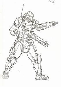 Futuristic soldier. by TheMuffinKingXxX on DeviantArt