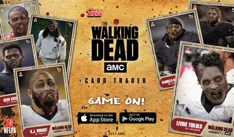 cards topps dead walking trading nfl digital edition players walkers turned releases featuring special amc ago