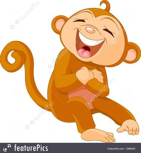 monkeys  apes laughing monkey stock illustration