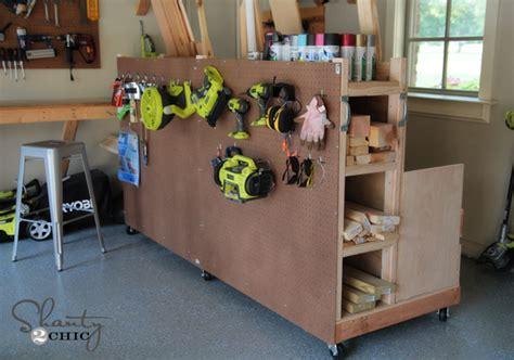 Garage Organization! Diy Lumber Cart  Shanty 2 Chic