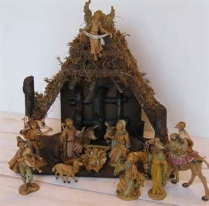 vintage fontanini nativity set marked depose by wickedfabulous