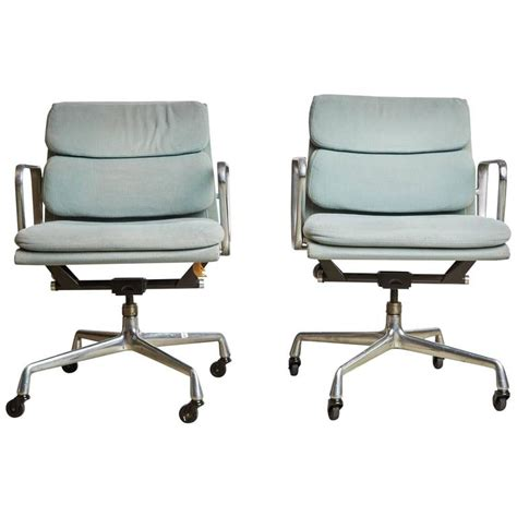 pair of charles eames for herman miller soft pad task