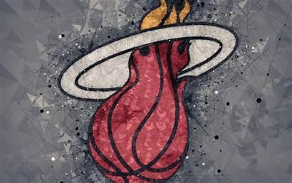 Miami Heat 4k Basketball Background Emblem Creative