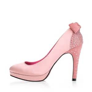 wedding shoes with bows pink satin crystals high heel wedding shoes with bows ipunya