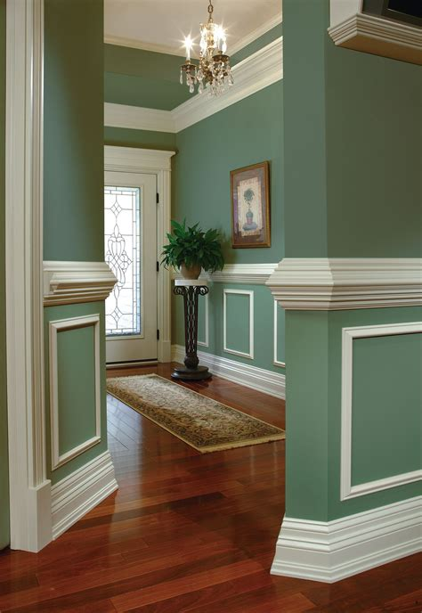 Living Room Crown Molding Pictures by Practical And Decorative A Chair Rail Adds Elegance To