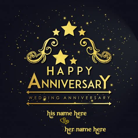 write  couple   happy wedding anniversary cards pic