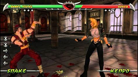 Mortal Kombat Unchained Playing As Shang Tsung Youtube