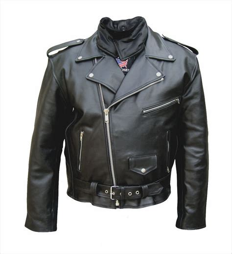 Split Cowhide Leather by Mens Classic Split Cowhide Leather Jacket With Neck Warmer