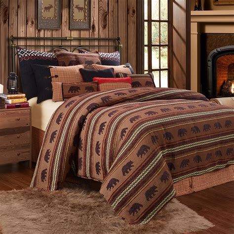 luxury rustic bedding  cabin bedding