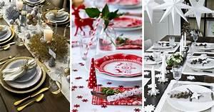Decoration De Noel 2017 : d co de table pour no l 2017 101 id es pour toutes les ~ Melissatoandfro.com Idées de Décoration
