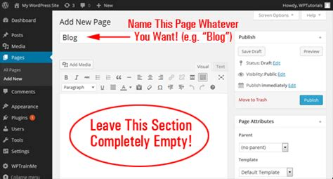 How To Add A Blog Page To Wordpress ⋆ Renee Shupe