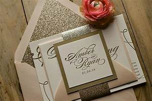 2014 trend alert pastels blush gold glitter just With red and gold glitter wedding invitations
