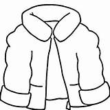 Winter Clothes Draw Line Clipart sketch template