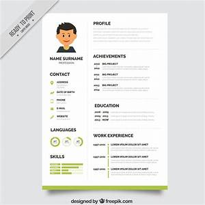 10 top free resume templates freepik blog With curriculum vitae format free download