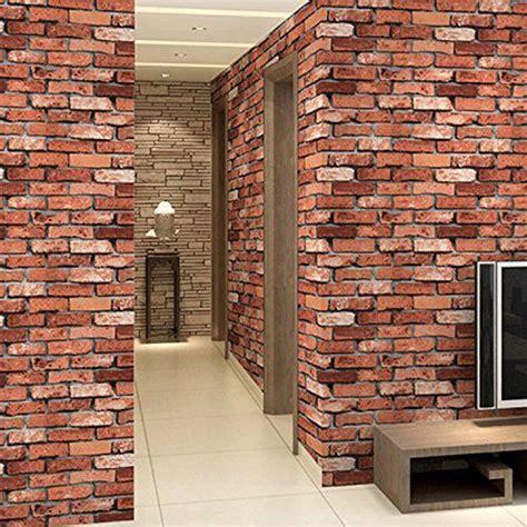 red foam brick wall panels  foam brick peel  stick
