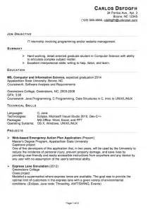 resume objective for engineering internships how to write curriculum vitae for internship costa sol real estate and business advisors