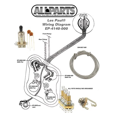 wiring kit for les paul allparts