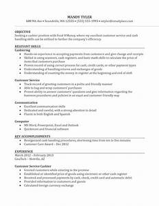 resume template cashier sample resume With resume sample for cashier at a supermarket