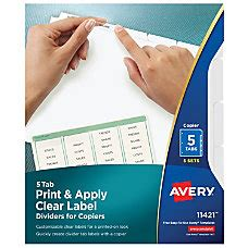 printable divider labels  office depot officemax