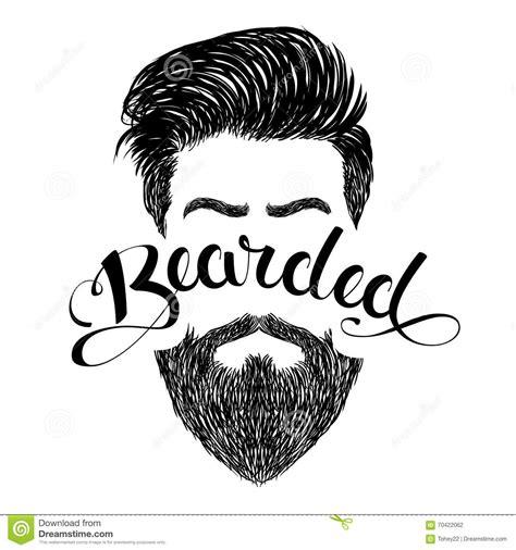 Logo bearded black stock vector. Illustration of letter ...