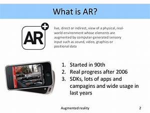 Augmented reality : Technology