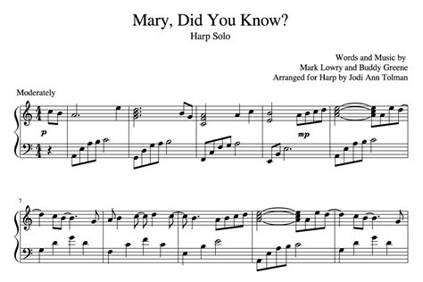 Sylvia woods harp center christmas and chanukah books. Mary, Did You Know?, Harp Solo | Music by Jodi Ann