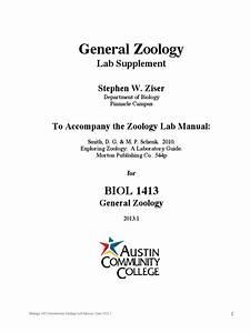 Zoology Lab Manual