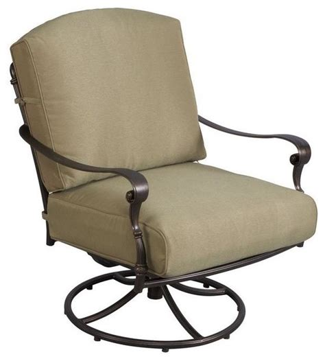 hton bay chairs edington patio swivel rocker lounge