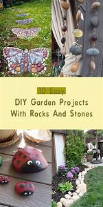 10, Easy, Diy, Garden, Projects, With, Rocks, And, Stones
