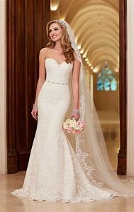 romantic lace over satin wedding dresses stella york With satin lace wedding dress